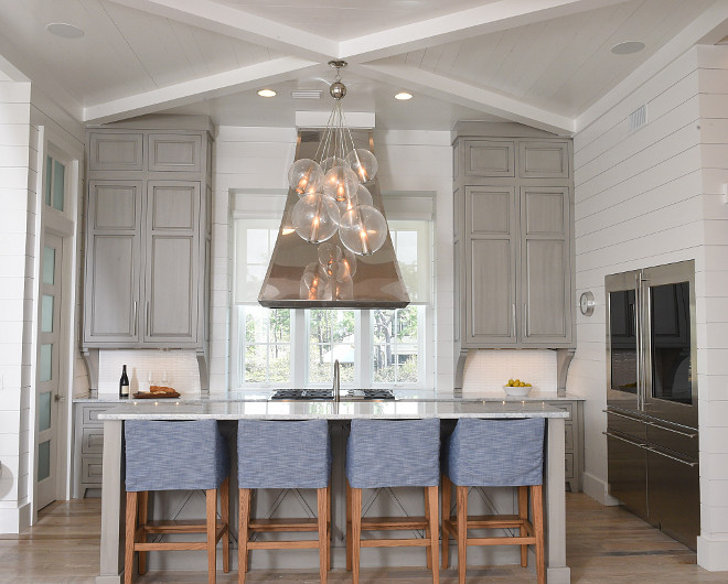 Kitchen Light. Kitchen light is Arteriors Caviar Fixed Large Cluster. Kitchen light ideas. Kitchen. Light. #Kitchenlight #ArteriorsCaviarFixedLargeCluster Interiors by Courtney Dickey of TS Adams Studio.