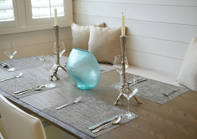 Simple tablescape ideas. Interiors by Courtney Dickey of TS Adams Studio.