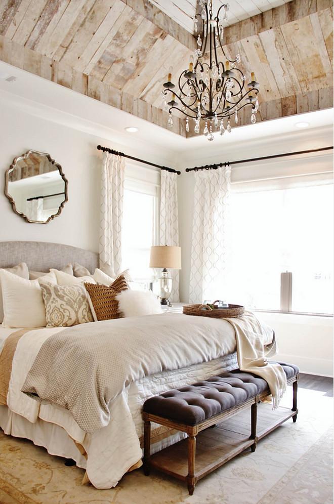 Farmhouse Bedroom White Headboard