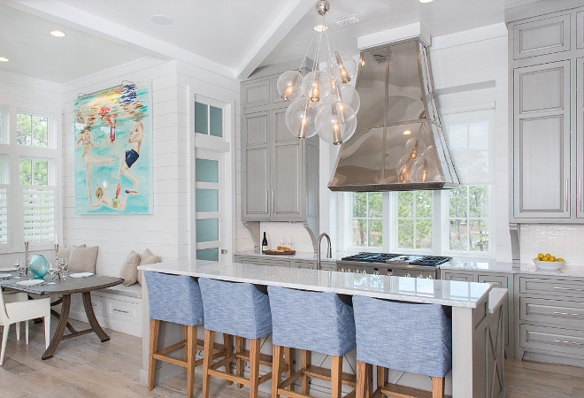 Kitchen Breakfast Nook. Kitchen Breakfast Nook Layout. Kitchen Breakfast Nook Ideas. Kitchen opens to Breakfast Nook. #KitchenBreakfastNook #Kitchen #BreakfastNook Interiors by Courtney Dickey of TS Adams Studio.
