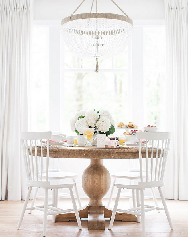 Dining Room. Dining Room Round Table. Dining Room White Chairs. Dining Room Ro Sham Beaux Chandelier. #DiningRoom #DiningRoomRoundTable #DiningRoomWhitechairs #DiningRoomwhitechair #DiningRoomRoShamBeaux #RoShamBeaux #Chandelier Monika Hibbs