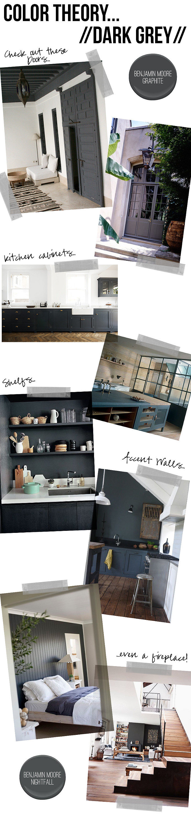 Dark Gray Paint Colors. Top Dark Gray Paint Colors. Best Dark Gray Paint Colors. Where to use dark gray paint colors. Benjamin Moore Graphite. Benjamin Moore NightFall #BenjaminMooreGraphite #BenjaminMooreNightFall Designer Recommended Dark Gray Paint Colors. #DarkGrayPaintColors #TopDarkGrayPaintColors #BestDarkGrayPaintColors #DesignerRecommendedDarkGrayPaintColors #DesignerRecommendedGrayPaintColors #DesignerRecommendedPaintColors Amber Interiors
