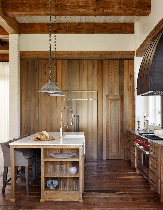 Reclaimed Cypress Cabinet. Reclaimed Cypress Kitchen Cabinet. Reclaimed Cypress Kitchen Cabinet Ideas. Beautiful kitchen made of Reclaimed Cypress Wood Cabinets. #ReclaimedCypress #ReclaimedCypressCabinet #ReclaimedCypressKitchen #ReclaimedCypressKitchenCabinet Interiors by Courtney Dickey of TS Adams Studio