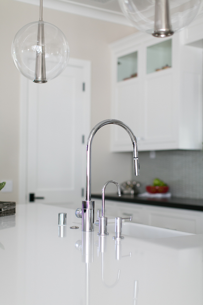 Kitchen Faucet. Modern kitchen faucet. This modern kitchen faucet is Waterstone 5300-PC Faucet. The Waterstone 5300-PC Faucet costs around  $1,660.00 #Kitchenfaucet #modernkitchefaucet #kitchen #faucet Patterson Custom Homes. Brandon Architects, Inc.