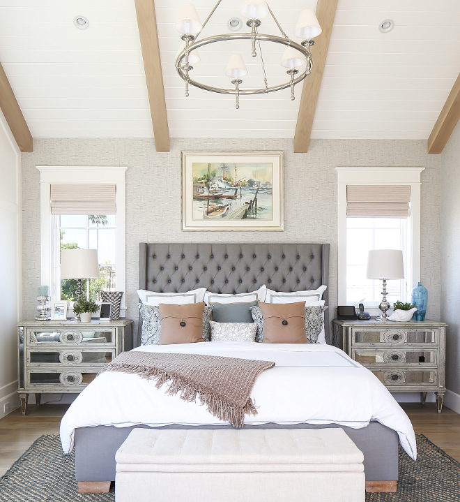 Master Bedroom. Master Bedroom Design. This master bedroom is truly impressive! I love everything about this space, from its ceiling to its decor. Master Bedroom. #MasterBedroom #MasterBedroomdecor #MasterBedroomceiling #MasterBedroomideas #MasterBedroomdesign Patterson Custom Homes. Interiors by Trish Steele, Churchill Design.