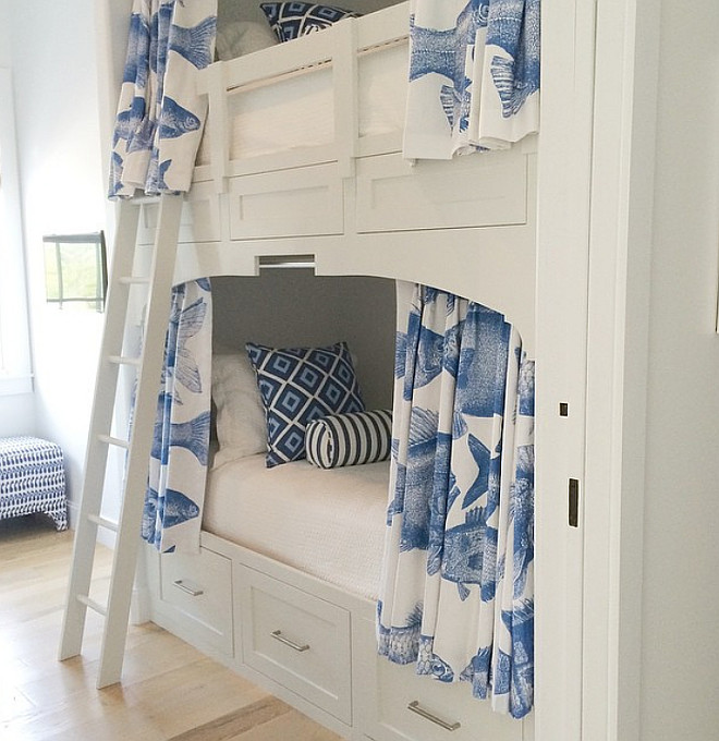 Bunk Beds with Curtains. Bunk Beds with Curtains for Privacy. Bunk Beds with Curtain Ideas. Bunk Beds with Curtains #BunkBeds #BunkBedsCurtains Urban Grace Interiors, Inc.