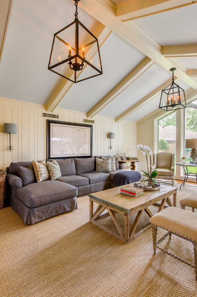 Vaulted ceiling lighting. Vaulted ceiling lighting ideas. Vaulted ceiling lighting. Vaulted ceiling lighting #Vaultedceiling #lighting Elizabeth Garrett Interiors.