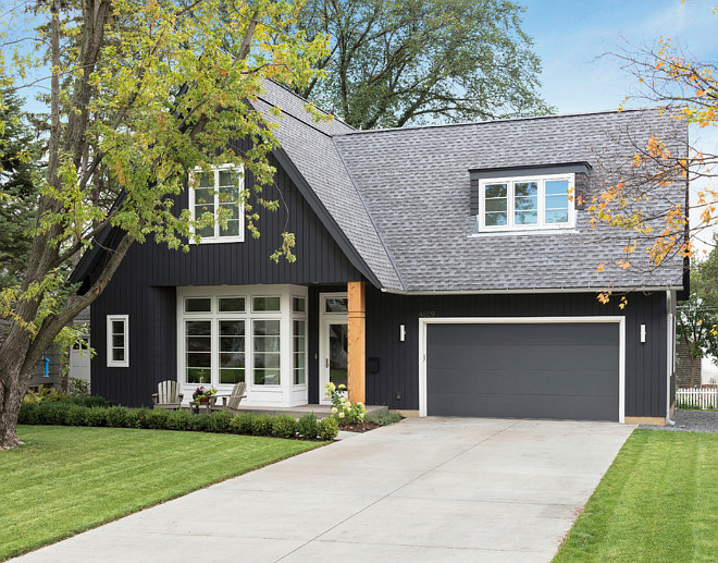 Dark Home Exterior Paint Color Ideas Black Exteriors Gray Charcoal