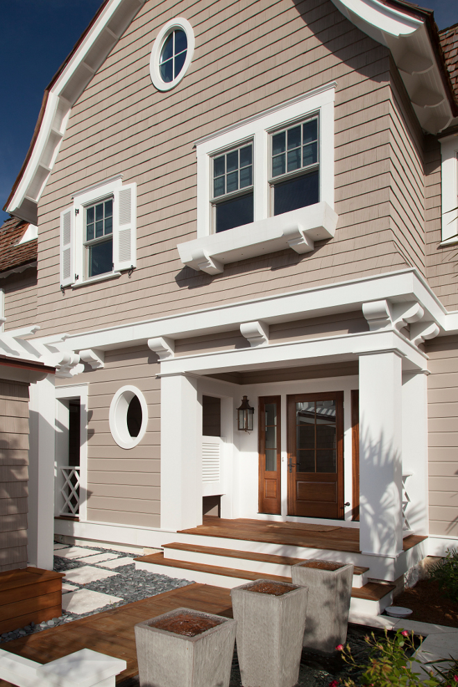 Tan Exterior. Tan Home Exterior Paint Color Sherwin Williams SW 7508 Tavern Tan. Sherwin Williams SW 7508 Tavern Tan. #SherwinWilliamsSW7508TavernTan #SherwinWilliamsSW7508 #SherwinWilliamsTavernTan #tanhomes #tanexterior #TanExteriorPaintColor #TanHomeExterior #LightTan #Neutralhomepaintcolor T.S. Adams Studio, Architects