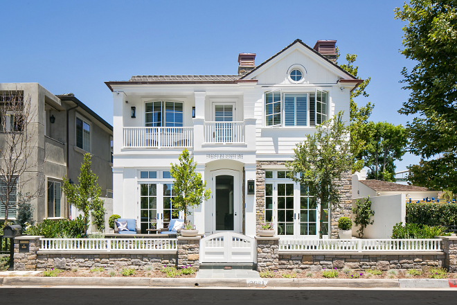 Urban cottage with transitional coastal interiors home for Limestone homes designs