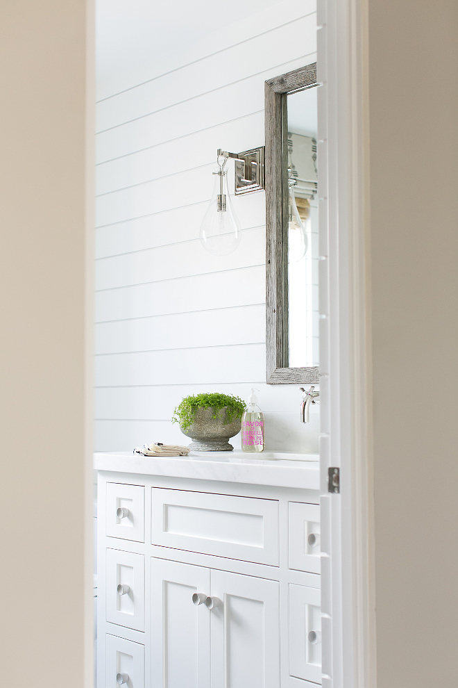 Bathroom shiplap waiscoting. Bathroom shiplap waiscoting and white cabinet. Bathroom shiplap waiscoting ideas. Bathroom shiplap waiscoting size. #Bathroomshiplapwaiscoting #Bathroom #shiplapwaiscoting #shiplap #waiscoting #wall #shiplapsize Patterson Custom Homes