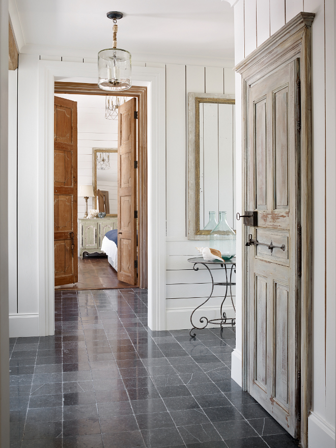 Foyer Stone Floor Tile. Tile floor in the foyer is Belgian Bluestone. Belgian Bluestone Tiles. Belgian Bluestone Tile #BelgianBluestone #Foyertile #foyerstoneflooring #foyerstonetile #BelgianBluestoneflooring Interiors by Courtney Dickey of TS Adams Studio
