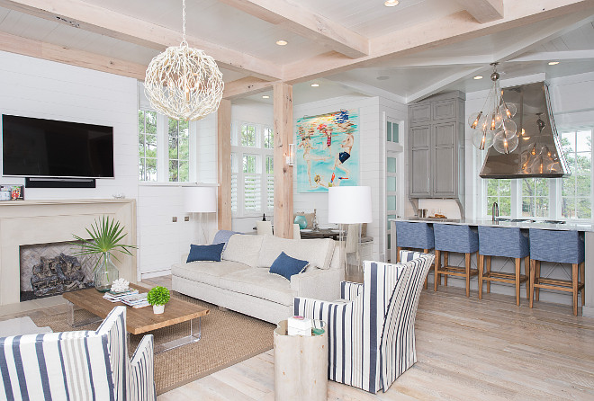 Beach house interiors. Beach house interiors. Beach house interiors. Beach house interior ideas. Beach house interior ideas and photos. Beach house interiors #Beachhouseinteriors #Beachhouse #interiors Interiors by Courtney Dickey of TS Adams Studio.