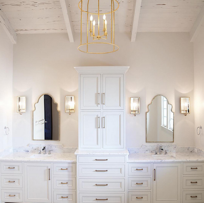 Bathroom Ceiling. Wood Bathroom Ceiling. Vaulted pecky cypress ceiling in bathroom. Bathroom features vaulted pecky cypress ceiling. #VaultedCeiling #peckycypressceiling #bathroom Old Seagrove Homes.