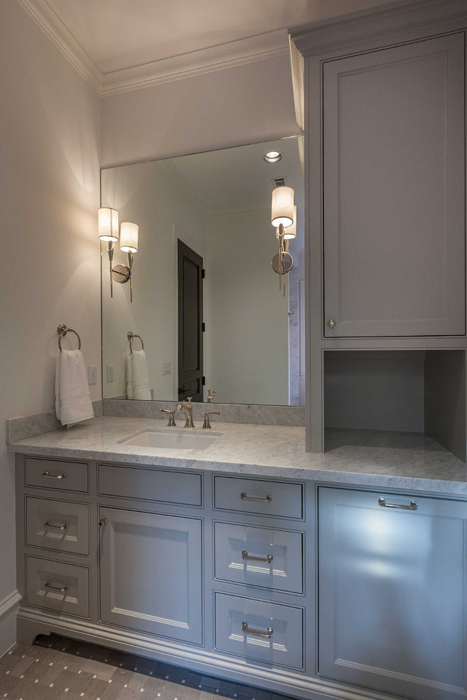 Bathroom vanity with linen cabinet. Bathroom vanity with linen cabinet ideas. Bathroom vanity with linen cabinet. #Bathroom #vanity #cabinet #linencabinet  Elizabeth Garrett Interiors