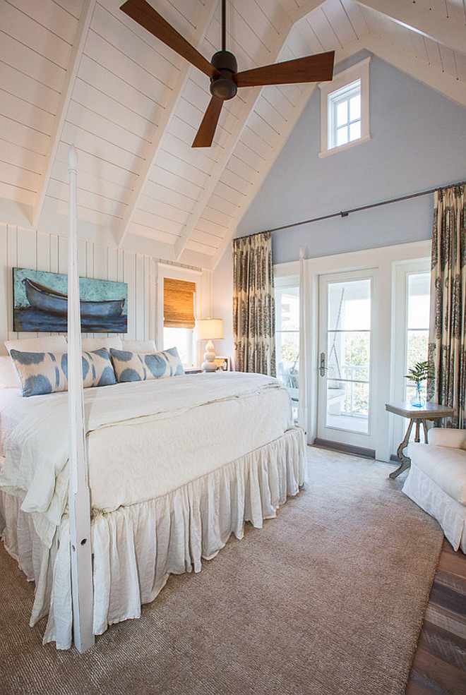 Bedroom v-groove vaulted ceiling. Bedroom v-groove vaulted ceiling. Bedroom v-groove vaulted ceiling. #Bedroom #vgrooveceiling #vaultedceiling Taylor and Kelly Interiors