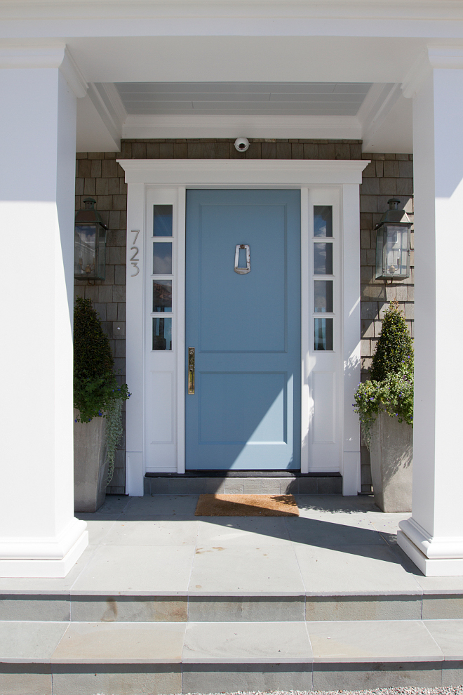 Benjamin Moore 1670 Labrador Blue. Benjamin Moore 1670 Labrador Blue. Blue door paint door is Benjamin Moore 1670 Labrador Blue #BenjaminMoore1670LabradorBlue #BenjaminMoore #1670 #LabradorBlue #blue #door Heritage Homes of Jacksonville. Villa Decor & Design.