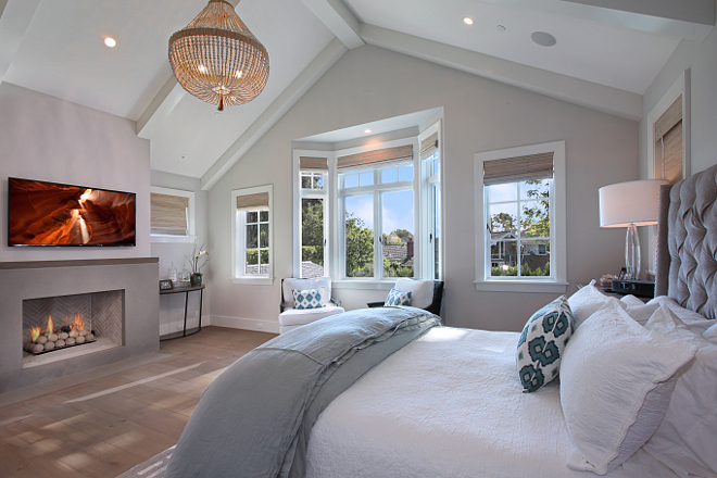 Master Bedroom chandelier. Chandelier is by Ro Sham Beaux. Patterson Custom Homes. Interiors by Trish Steele of Churchill Design.