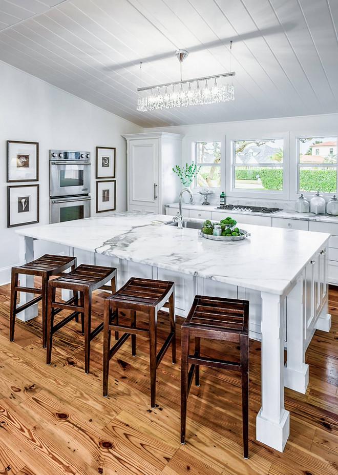 Kitchen Hardwood Flooring. Kitchen Hardwood Flooring is Reclaimed Heart of Pine Flooring. #kitchen #hardwoodflooring #hardwood #flooring #ReclaimedHeartofPine #Floor Beach Chic Design
