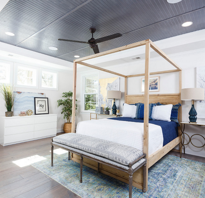 Rustic bedroom with beadboard ceiling. Rustic bedroom beadboard ceiling. Rustic bedroom beadboard ceiling ideas #Rusticbedroom #beadboardceiling Crescent Homes