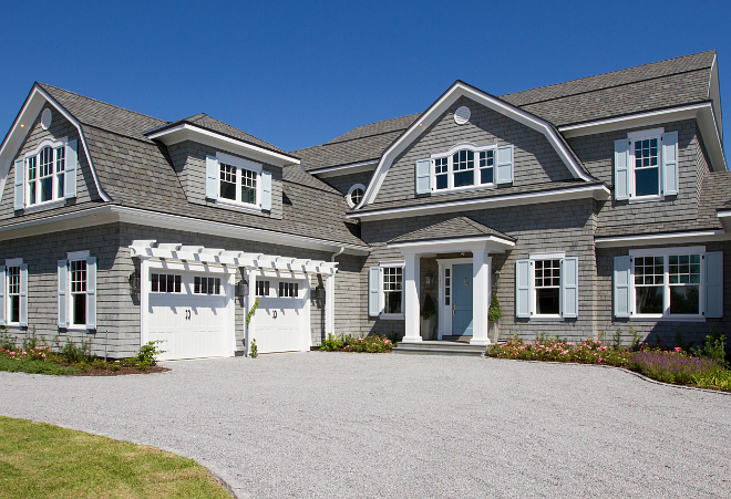Shingle Style Gambrel Beach House