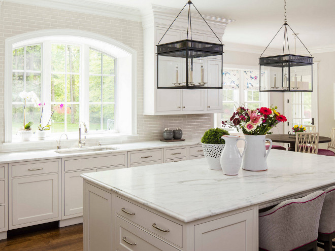 Urban Electric Chisholm Hall Lantern. Urban Electric Chisholm Hall Lanterns. Urban Electric Chisholm Hall Lantern above kitchen island #UrbanElectricChisholmHallLantern #UrbanElectricco #ChisholmHallLantern Martha O'Hara Interiors