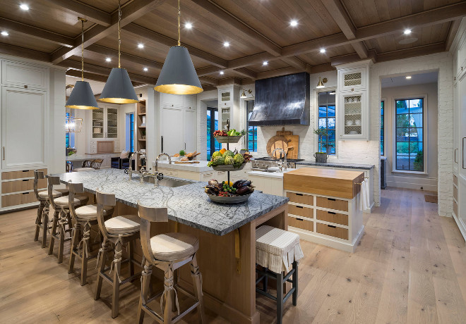 Kitchen wood floor and wood ceiling. Kitchen wood floor and wood ceiling ideas. Beautiful kitchen wood floor and wood ceiling. #Kitchen #woodfloor #woodceiling #kitchenfloor #kitchenceiling Jackson and LeRoy