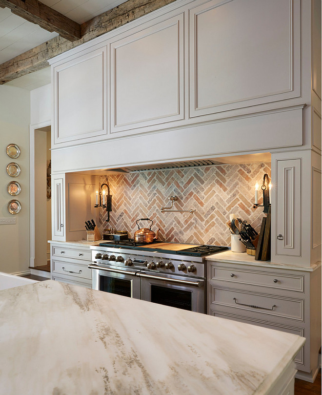 off white kitchen backsplash traditional white kitchen with brick backsplash home 919