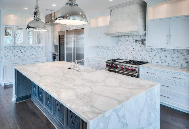 Waterfall kitchen island. Waterfall island material. Waterfall kitchen island countertop. Waterfall kitchen island countertop #WaterfallIsland #Waterfallkitchenisland #countertop Blake Morar - The Morar Group.
