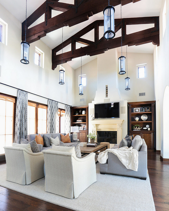 Living room lighting. Living room lighting ideas. Living room high ceiling lighting. Living room lighting #Livingroom #lighting #Livingroomlighting #Livingroomlightingideas #Highceilinglighting Blackband Design