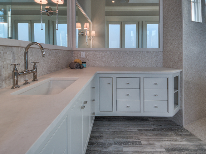 Bathroom Countertop and wall tile.