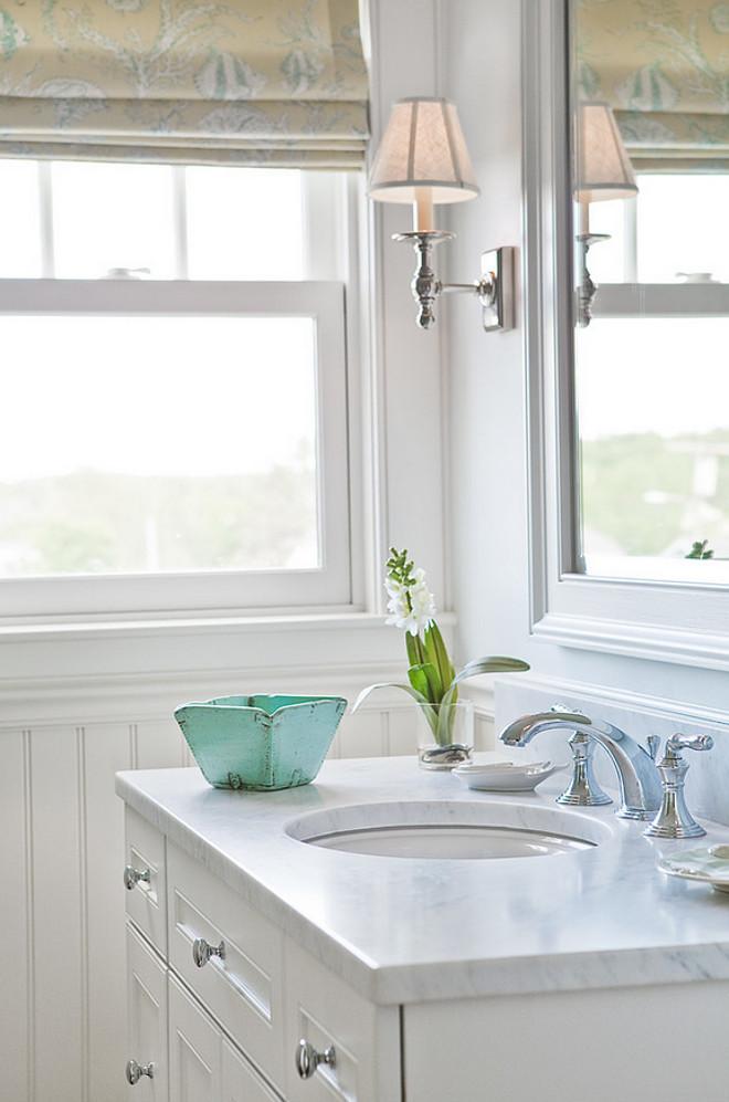 Bathroom Honed Marble Countertop. Bathroom Honed White Marble Countertop. #Bathroom #HonedMarble #Countertop Bowley Builders