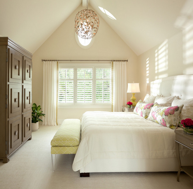 Bedroom Cathedral Ceiling. Neutral Bedroom With Cathedral Ceiling. #Bedroom  #cathedral #ceiling