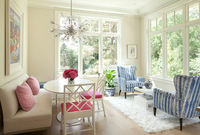 Breakfast nook with windows and transoms. Breakfast nook with windows and transoms #Breakfastnook #windows #transoms Kurt Baum & Associates. RLH Studio, L. Cramer Builders + Remodelers