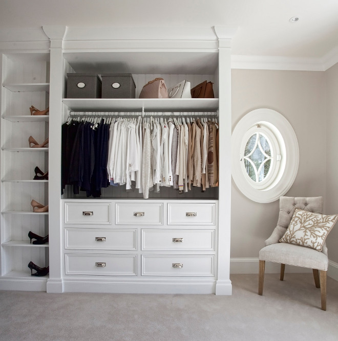 Dressing room. This dressing room is practical and pretty. #dressingroom Hayburn & Co.