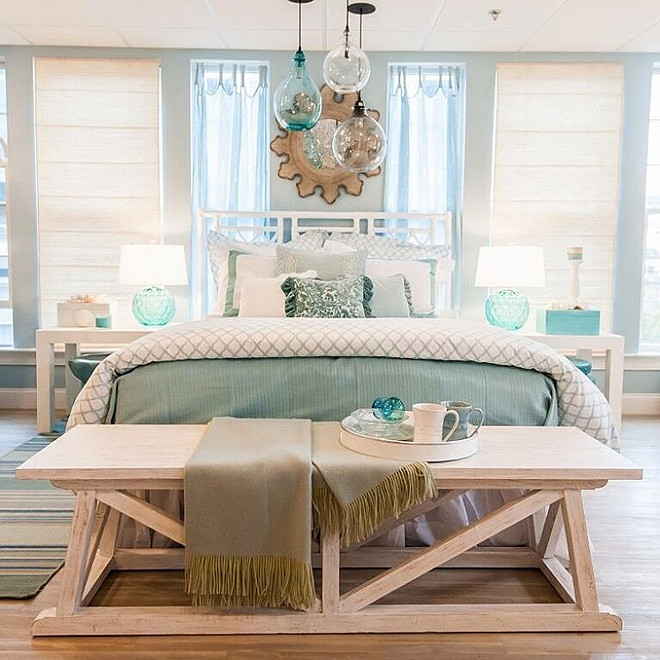 Coastal Bedroom. Coastal Bedroom decorated with the colors of the sea. Coastal Bedroom colors. Coastal Bedroom decor. Coastal Bedroom #CoastalBedroom #Coastalinteriors #coastal #coastalhomes #coastalcolors Welch Company Home + Design