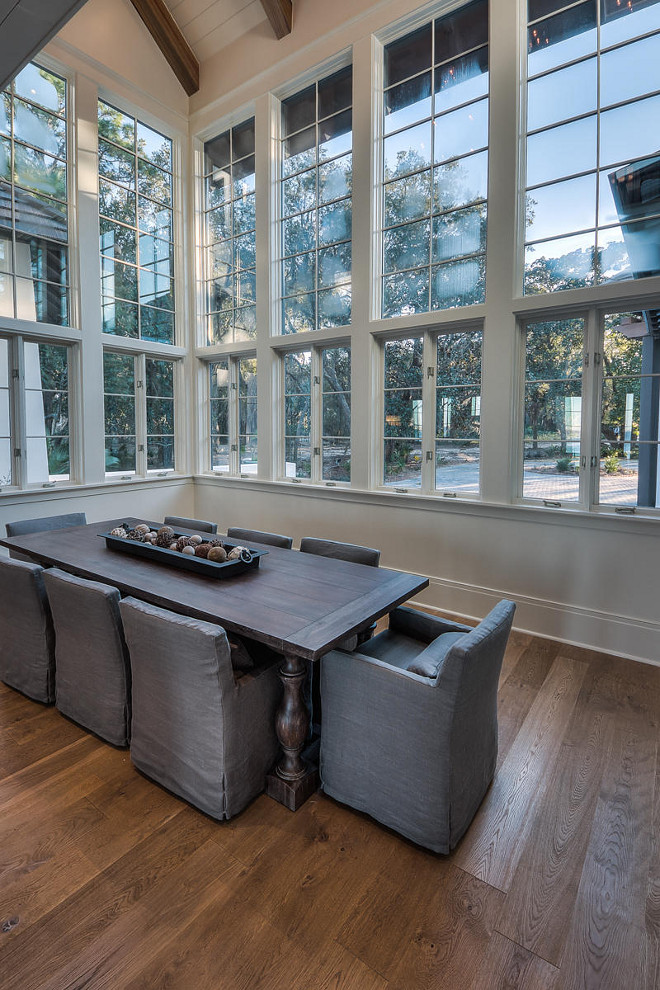 Dining room floor to ceiling windows. Floor to ceiling dining room ideas. #diningroom #floortoceilingwindows