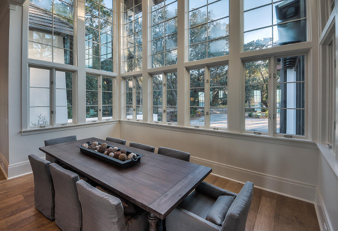 Dining room with floor to ceiling windows. Dining room windows. #Diningroom #Windows #Floortoceilingwindows