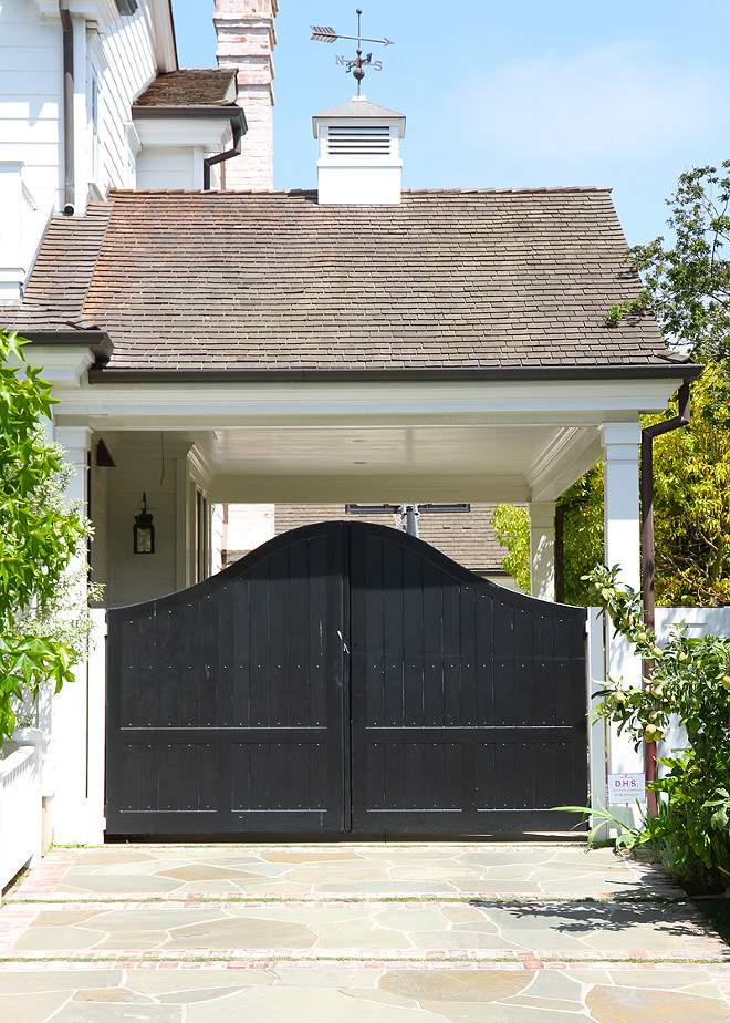 Gate. Side garage porte cochere gate. #Gate  Cynthia Childs Architect.