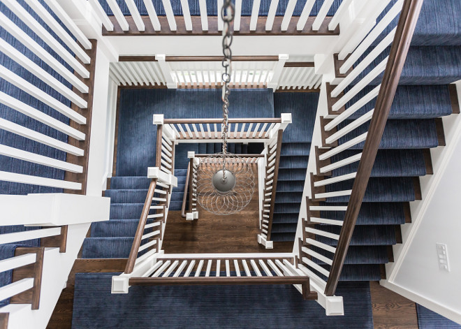 Indigo Stair Runner. Indigo Stair Runner. Indigo Stair Runner Indigo Stair Runner #IndigoRunner #StairRunner Alisberg Parker Architects.