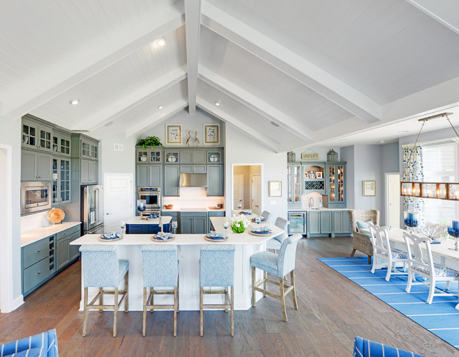 Kitchen Vaulted Ceiling. Kitchen and Dining Area. Kitchen Vaulted Ceiling. Kitchen Vaulted Ceiling Ideas #Kitchen #VaultedCeiling Schell Brothers