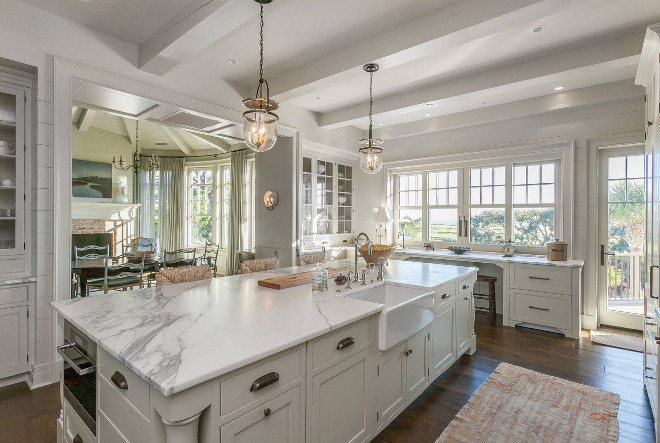 Kitchen island with farmhouse sink. Kitchen island with farmhouse sink. #Kitchenisland #farmhousesink Christopher Rose Architects,