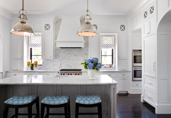 Family Home With Elegant Interiors Interior For Life - Light gray kitchen island