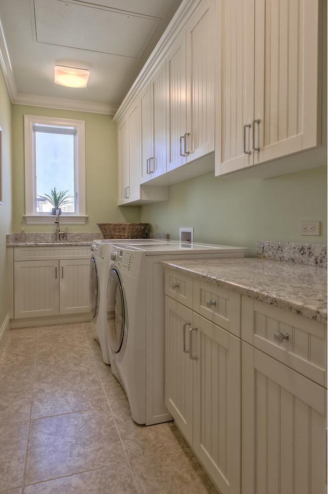 Laundry room Beadboard Cabinets. Laundry room Beadboard Cabinet Ideas. #Laundryroom #BeadboardCabinets  Calusa Construction, Inc.