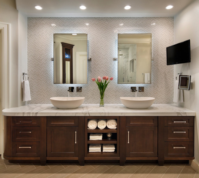 Bathroom mirrors with lights behind perfect white for Bathroom led strip lights