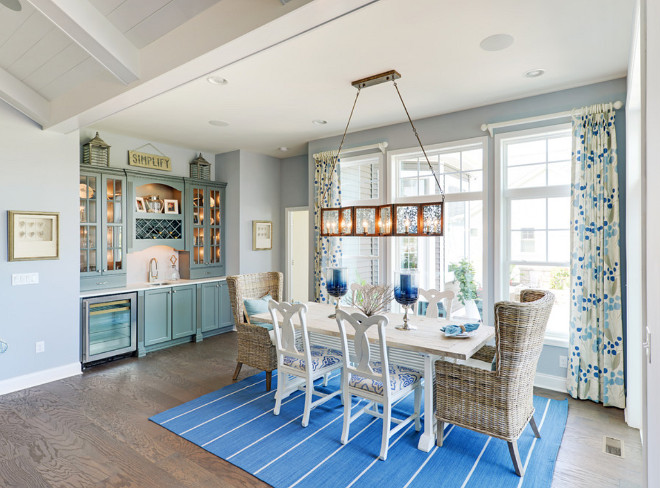 Linear Chandelier. Coastal Dining room with linear chandelier. Coastal Dining room with linear chandelier #CoastalDiningroom #Diningroom #linearchandelier Schell Brothers
