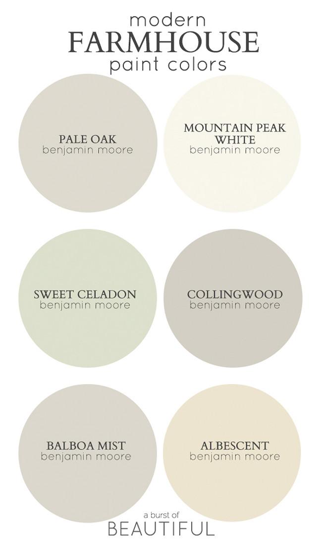 Modern Farmhouse Color Palette Best Paint Colors For Via A Burst Of
