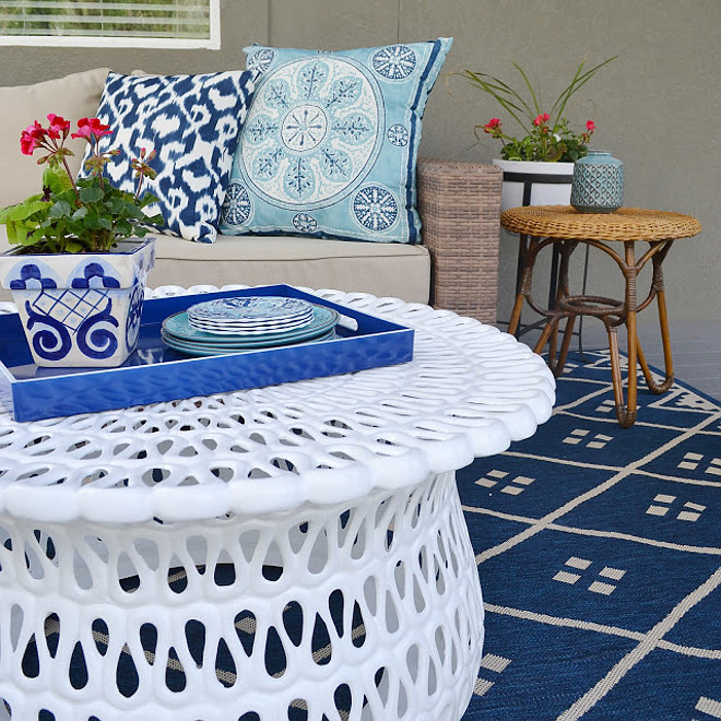 Patio coffee table. Patio coffee table ideas. Patio coffee table is from Frontgate. #Coffeetable #outdoors #patio #Outdoorcoffeetable #Patiocoffeetable Sita Montgomery Interiors