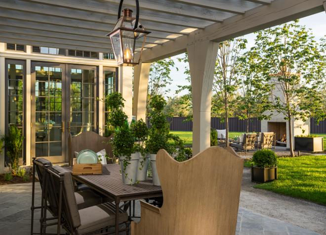Pergola Patio. Pergola Patio. Pergola Patio with patio furniture and outdoor lantern. #Pergola #Patio