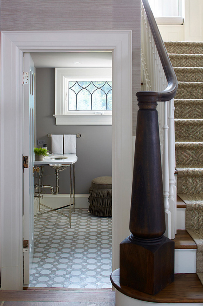Powder Room off the foyer. Powder Room under the stairs - off the foyer Brooks and Falotico Associates, Inc.